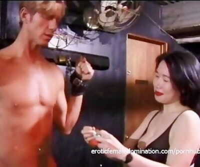 Killer Asian dominas make two studs' naughtiest fantasies come true