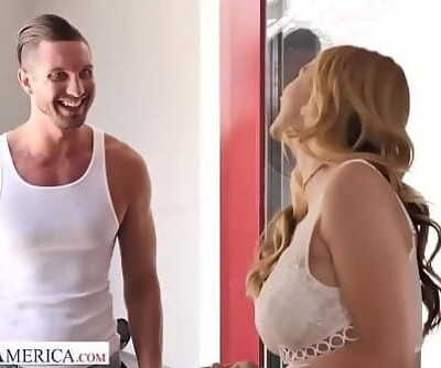 Naughty America Brenda Phillips (Sarah Vandella) give the AC guy a suck 13 min 720p