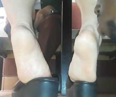 Candid Foot Predator Licking Asian Feet