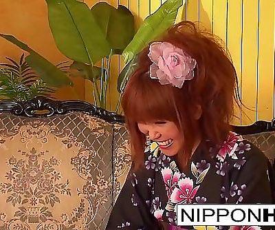 Asian hottie undresses her kimono for fucking 6 min 1080p