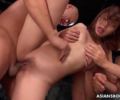 Aihara Miho likes to have rough lovemaking until she finishes off 5 min