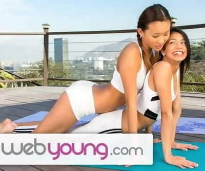 EXCLUSIVE: Webyoung Alina Li Licking Teenager Pussy after Yoga