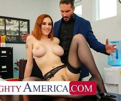 Wild America - Lilian Stone Drains her Boss Balls to help Relieve his Pressure