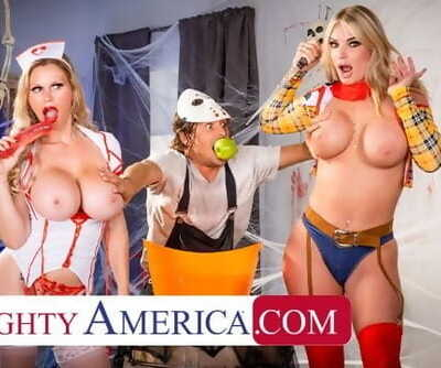 Naughty America - Mummies in Costume, Casca Akashova & Rachael Cavalli, need some Dick after a Big Sca