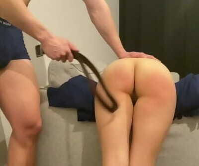 Naughty Schoolgirl Gets Smacked for Skipping Class