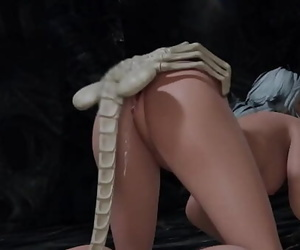 [3D Hentai Animation] I string up facehuggers 5 min