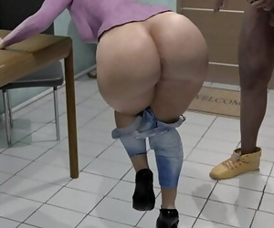 Thick latina mother get her ballsack SMASHED by sons..