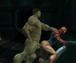 Hulks Pound Rage with Spiderman