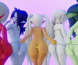 Ghost Dance 5 Girls Edited by モン娘の話するかも?