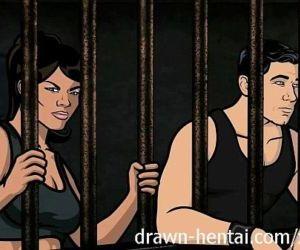 Archer Hentai - Jail hookup with Lana - 7 min HD