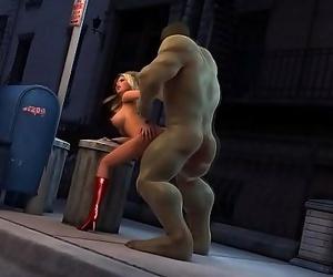 Dearest Hulk nails smoking hot blond stunner 5 min