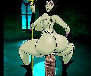 Maleficent jiggles her nut - 1 min 16 sec