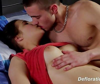 Defloration of Elza - very first time lovemaking with bf