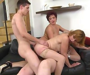 Mature busty mothers get taboo lovemaking with sons