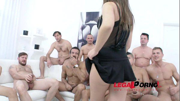 Ten man gangbang for Anina Silk SZ1137 HD