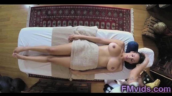 Busty Serena Ali pounding with massagist