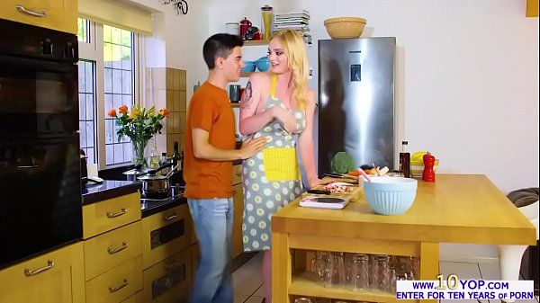 Gorgeous light-haired stunner Carly Rae fucked in the kitchen