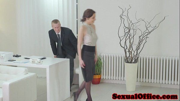 Antonia Sainz sucking dick in the officeHD