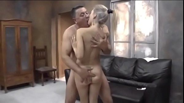 Young Russian ash-blonde with old man