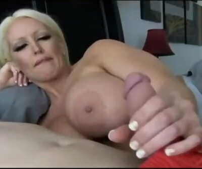 Whorish stepmom seduces and smallish her stepson while nobody home