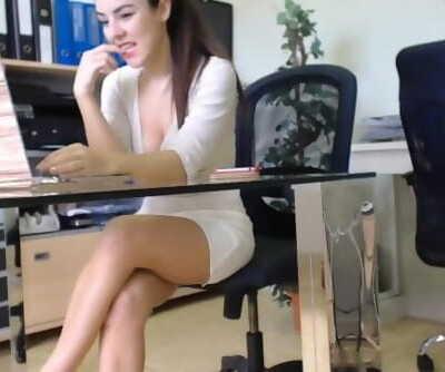 Spanish Fitness Secretary Secretly Masturbates