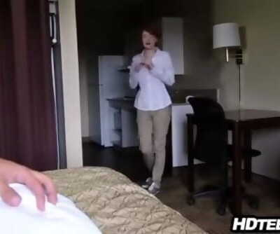 Hotel maid screwed by guest
