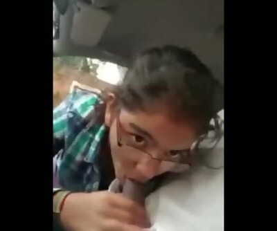 Desi Indian Providing Blowjob To Uncle in Car