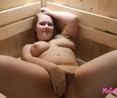 Plumper Teenage Maja Meer gets bitchy in the sauna