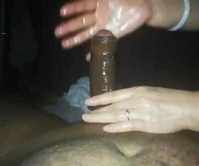 Chinese milking Indian desi shaft rubdown with jism - Part 2