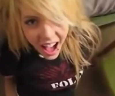 Emo teenager satisfy jizz in my gullet