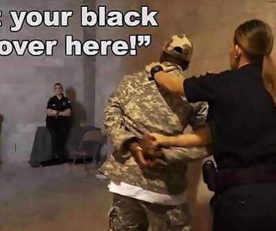 BLACK PATROLFake Soldier Gets Used As A Seized Tart\