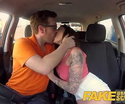 Fake Driving School Spanish kitty cat rides cock 8 min 1080p