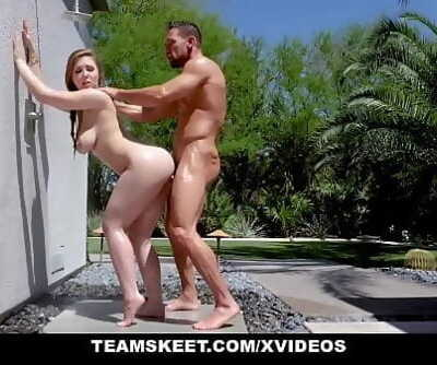 TeamSkeetFucking A Fat Hooter Teen By The Pool Ten min 1080p