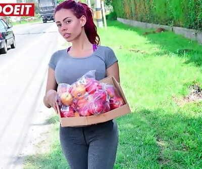 Sweet big ass redhead Latina rails a big dick (Canela Skin) 11 min