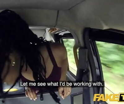 Fake Taxi Quick fucking and creampie for peachy nuts black babe Kira Noir 8 min 720p