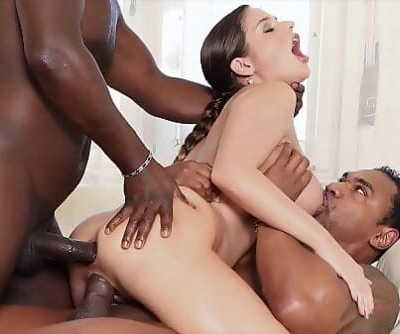 Bi-racial group sex mummy getting her slots pulverized hard and creampied 11 min 1080p
