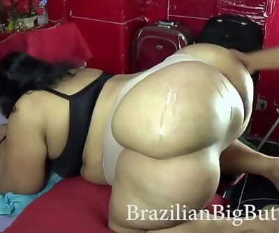BrazilianBigButts.com This lady bbw has a huge nuts to give me the best assjob 77 sec 720p