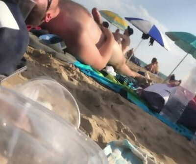 Beach Spy: Cub Displays off Thick Boner on Public Beach