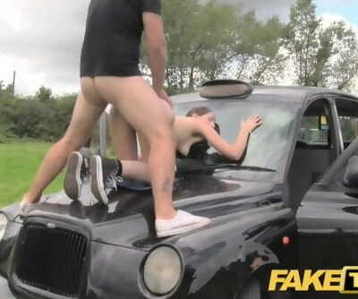 Fake Taxi Olive Flesh Deep-throaters Gets Pounded on Car Bonnet