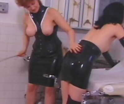 Mature Redhead Dominatrix Displays her new Victim what Pain is