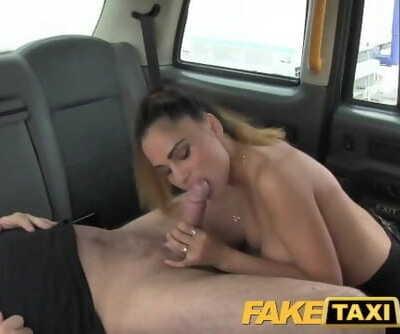 FakeTaxi Sassy Romanian with Ideal Tits Gets Taxi Facial