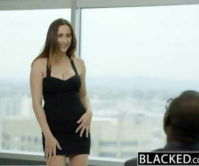 BLACKED Buxomy Brunette Ashley Adams very first Big black cock