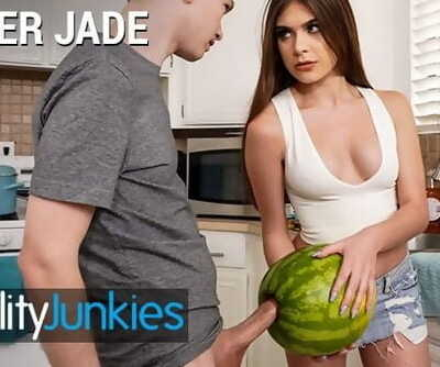 Reality Junkies - Mischievous Step Sister Winter Jade Walks in on Step Bro and his Huge Hard-on