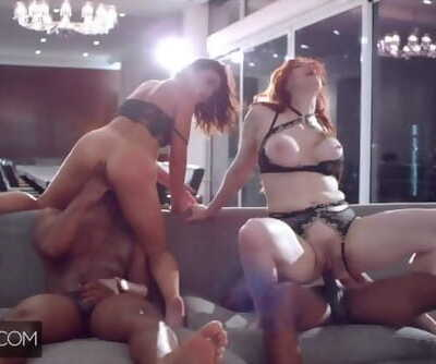 Deeper. Maitland & Adriana Partake in a Crooked Foursome