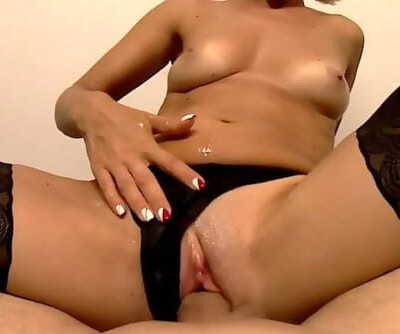 Perfect Diminutive Tits Honey in Blossom Plays with Shaft and Gets a Cumshot