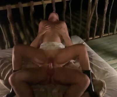 Cockold Friend Nails Mummy Wifey in Treehouse in Front off Husband. Outdoor HOME MADE