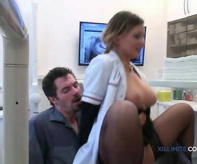 Blond Dentist Nails her Patient