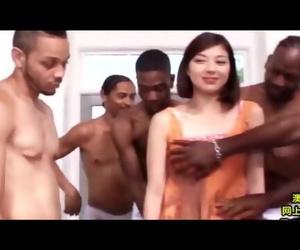 Big black cock vs ASIAN - JAV PMV