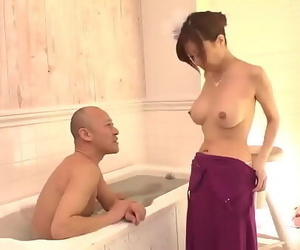 Chihiro Akino stands bare and deals hard-on like a..