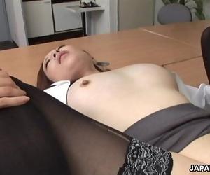 Japanese secretary Mizukawa had sex, uncensored 5 min 1080p